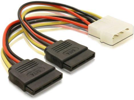 Delock táp kábel, 2x SATA - Molex átalakító kábel (60102)