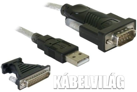Delock 61308 Adapter USB 2.0 > Serial (DB9, DB25)