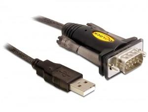 Delock USB - RS232 (COM) átalakító kábel 1.5m (61856)
