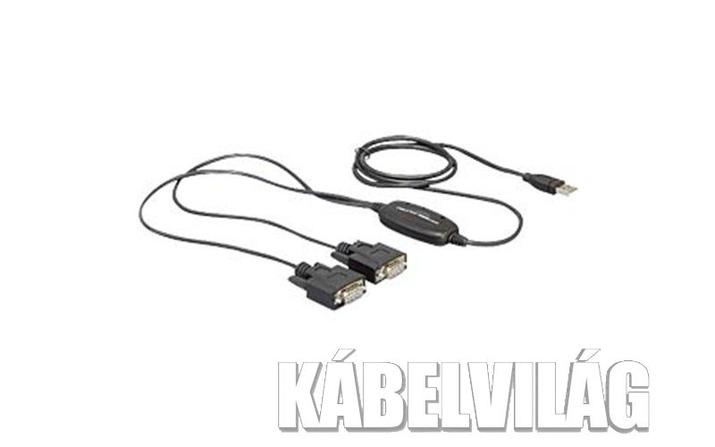 Delock 61886 USB 2.0 > 2 x soros adapter