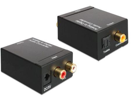 Delock RCA - Optikai átalakító audio konverter (62443)