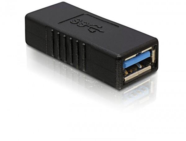 Delock USB 3.0 A anya - USB A anya toldó adapter (65175)