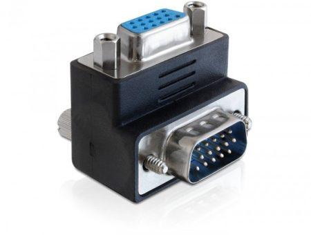 Delock VGA apa - VGA anya 270 fokos elforgatott adapter (65247)