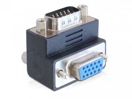 Delock VGA apa - VGA anya 90 fokos elforgatott adapter (65289)