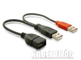 Delock USB adat- és tápkábel, fekete (65306)