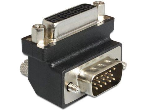 Delock DVI 24+5 anya > VGA 15p apa 270° hajlított (65426)