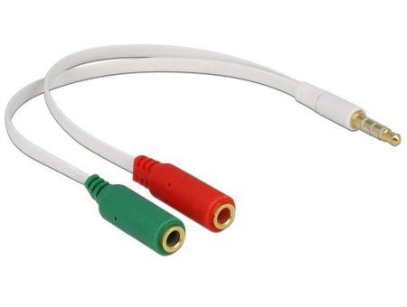 Delock Jack 4pin (CTIA) 3.5 apa -  2x Jack anya adapter (65447)