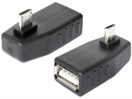 Delock USB micro B OTG, 90°-ban forgatott adapter (65474)