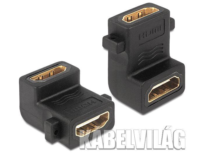 Delock USB könyök 90° toldó adapter csavarhellyel (65510)