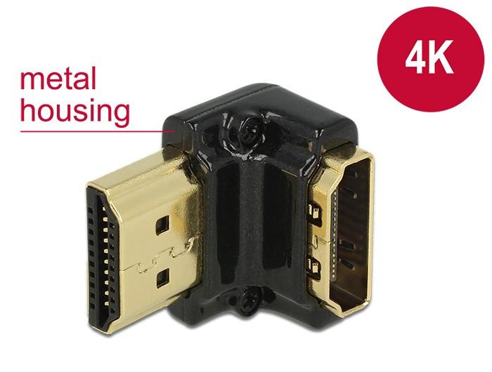 Delock HDMI 90 fokos fordító 4K adapter (65662)