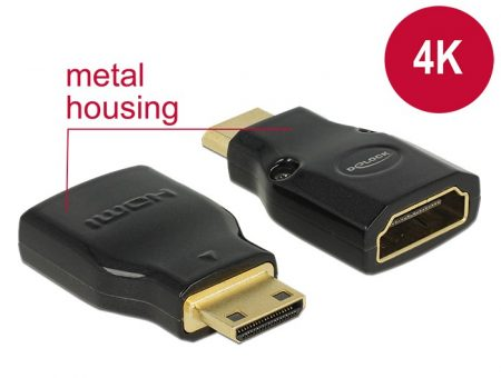 Delock HDMI anya - mini HDMI apa 4K átalakító adapter (65665)