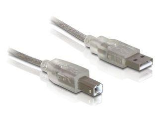 Delock USB 2.0 AM-BM nyomtató kábel 0.5m zajszűrős (82057)