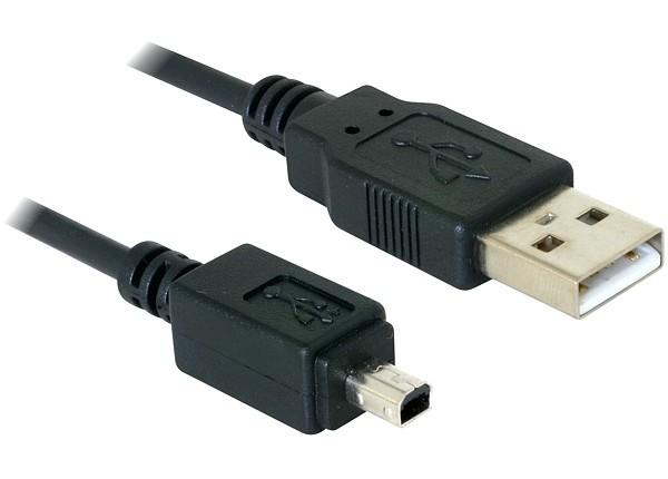Deock USB 2.0 fényképezőgép kábel 4 tűs Olympus 1.5m (82113)