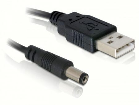 Delock USB - 5V DC 5.4x2.0 kábel, 1m (82197)