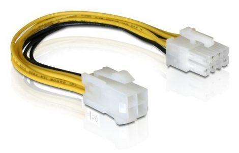Delock PCI Express 8 tűs - ATX/P4 4 tűs kábel, 0,15m (82405)