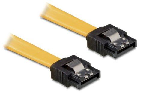 Delock SATA 2 20cm adatkábel zárral (82476)