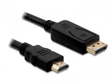 Delock Displayport 1.1 - HDMI kábel 2m (82587)