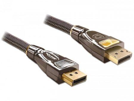 Delock Display port 1.2 kábel 5m prémium (82773)