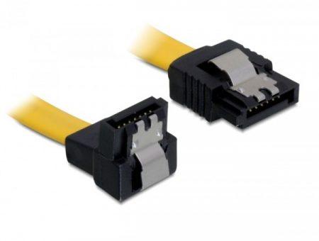 Delock SATA 6 Gb/s le /egyenes kábel, fém, 30 cm (82806)