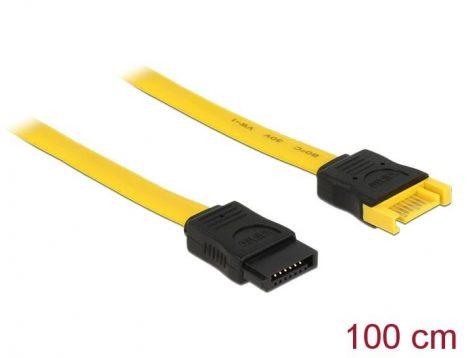 Delock SATA apa - anya hosszabbító adatkábel 100cm (82856)