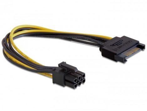 Delock SATA 15 tűs - PCI Express 6 tűs kábel, 0.21m (82924)