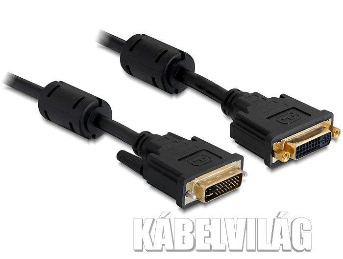 Delock DVI-I 24+5 hosszabbító kábel 1m (83106)