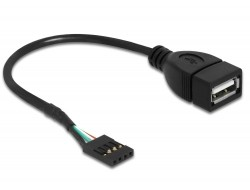 Delock Cable USB 2.0 type-A female to pin header (83291)