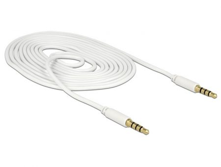 Delock Jack 3.5 mm 4 pin kábel 2m fehér (83441)
