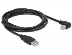 Delock USB 2.0 nyomtató kábel 90 fok, 2m (83528)