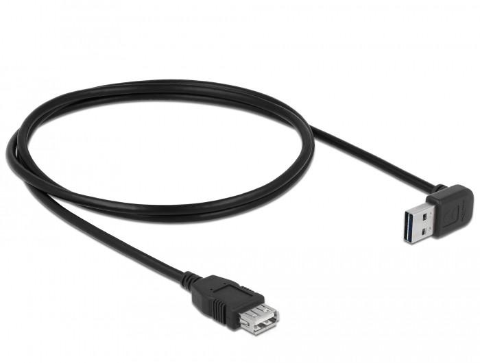 Delock EASY-USB 2.0 hosszabbító kábel 90/270 fok, 1m (83547)