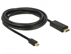 Delock mini Displayport 1.1 - HDMI A kábel 2m (83699)