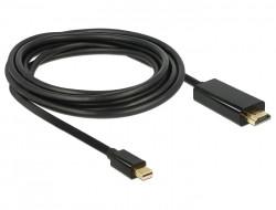 Delock mini Displayport 1.1 - HDMI A kábel 3m (83700)