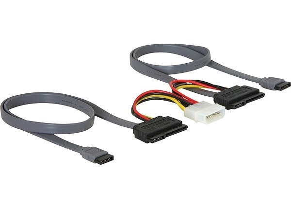 Delock SATA All-in-One cable for 2x HDD (84239)