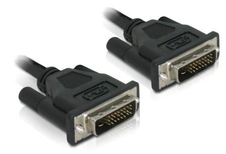 Delock DVI-D dual link 24+1 kábel 0.5m