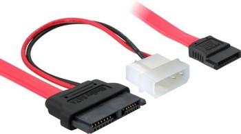 Delock mini SATA (Slimline) - SATA+Molex átalakító 30cm (84390)