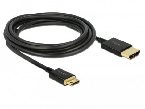 Delock Premium mini HDMI 2.0 4K UltraHD kábel, 0.5m (84787)