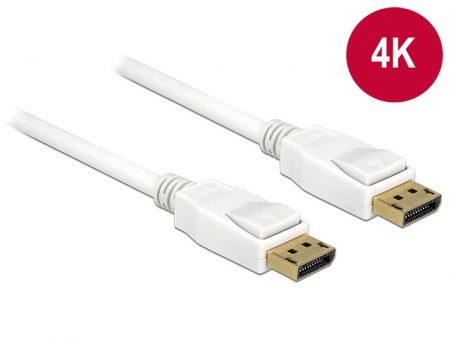 Delock Displayport 1.2 4K kábel 3m fehér (84878)