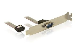Delock DB9M (COM) 9PIN csatlakozó aljzat, 25cm (89108)