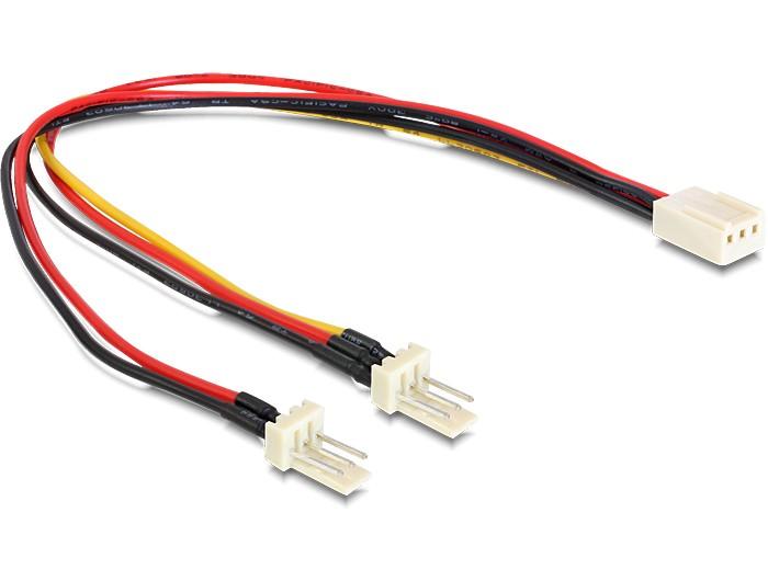 Delock Molex 3 pin anya > 2 x Molex 3 pin apa (ventillátor), 22 cm (89343)