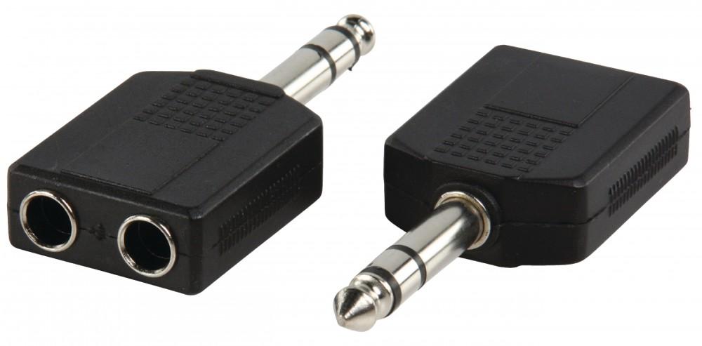 Valueline Adapter dugó 6.35mm sztereó dugó - 2 x 6.35mm sztereó aljzat