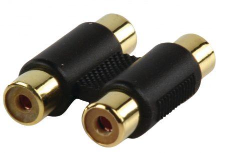 Valueline Adapter 2x RCA aljzat - 2x RCA aljzat (aranyozott)