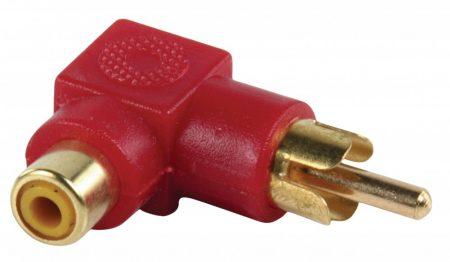 Valueline Adapter hajlított RCA dugó - RCA aljzat (aranyozott)