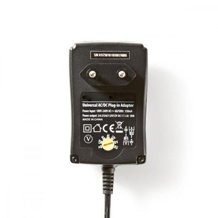 Nedis Univerzális hálózati adapter állítható 3-12V DC 1.5A (ACPA002)