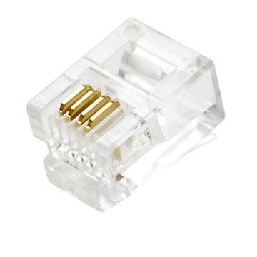 RJ11 6P4C telefon csatlakozó dugó 1db