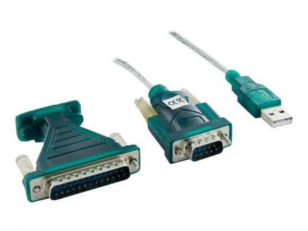 4World USB - Serial DB9M DB25M Adapter oem