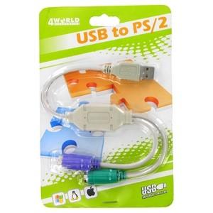 4World USB - 2x PS2 átalakító