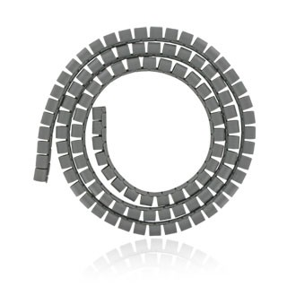 4World kábelrendező 16 mm, 1.5m, szürke (06515)