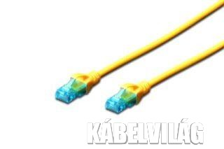 Digitus UTP CAT5e patch kábel 0.5m, sárga (DK-1512-005/Y)