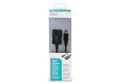 Digitus aktív USB 2.0 hosszabbító kábel 5m