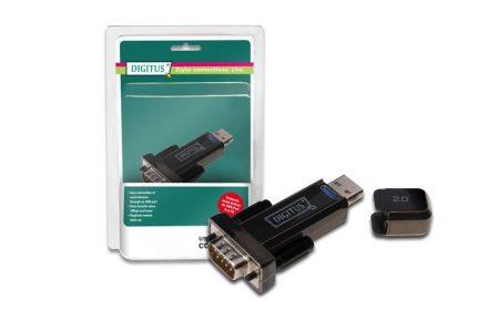 Digitus USB 2.0 papa - RS232 (COM) papa átalakító adapter